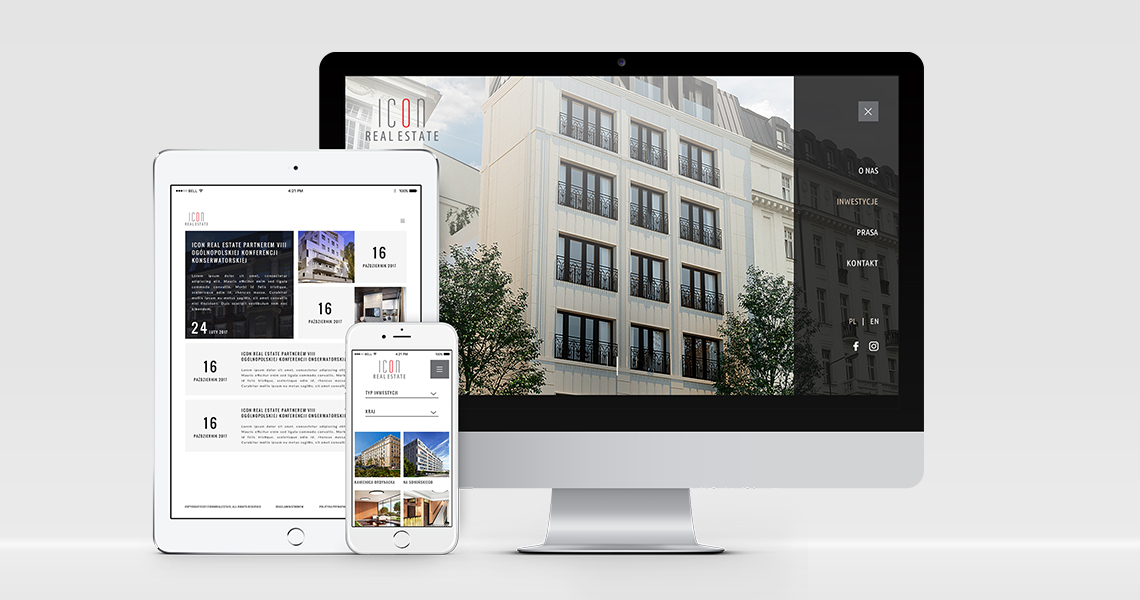 Strona www Icon Real Estate